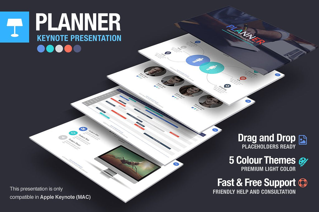 Planner Keynote Template - Presentation Templates on Slideforest