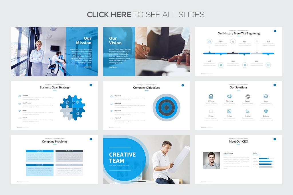 Business Proposal Keynote Template - Presentation Templates on Slideforest
