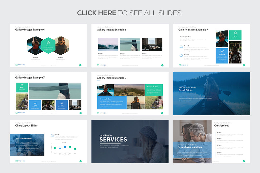 pitch deck pro google slides template presentations on
