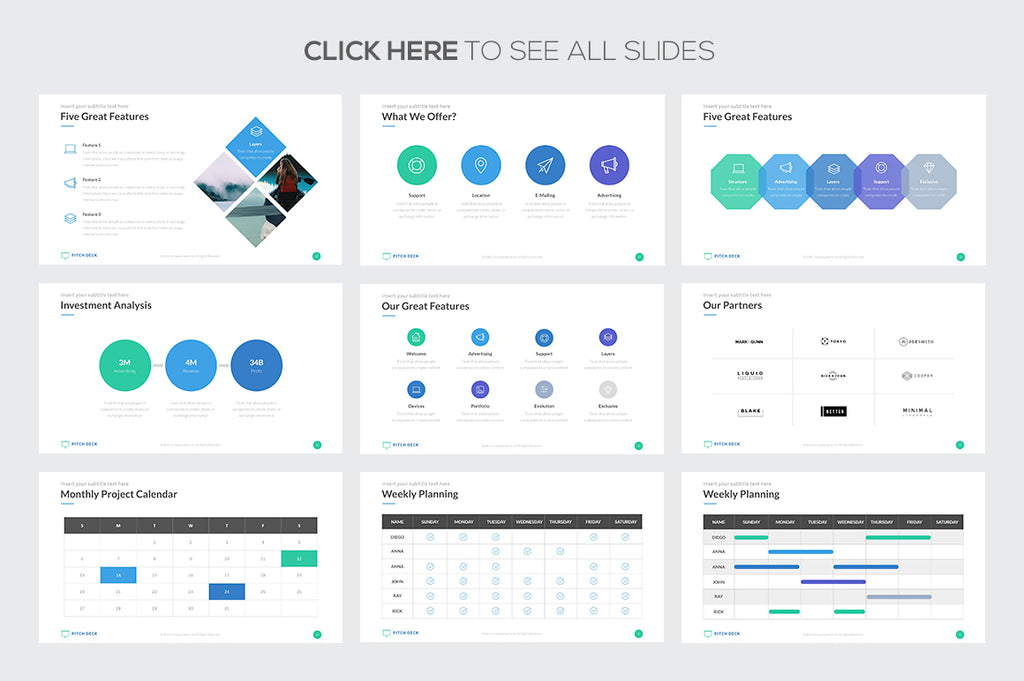 Pitch Deck Pro Google Slides Template - Presentation Templates on Slideforest