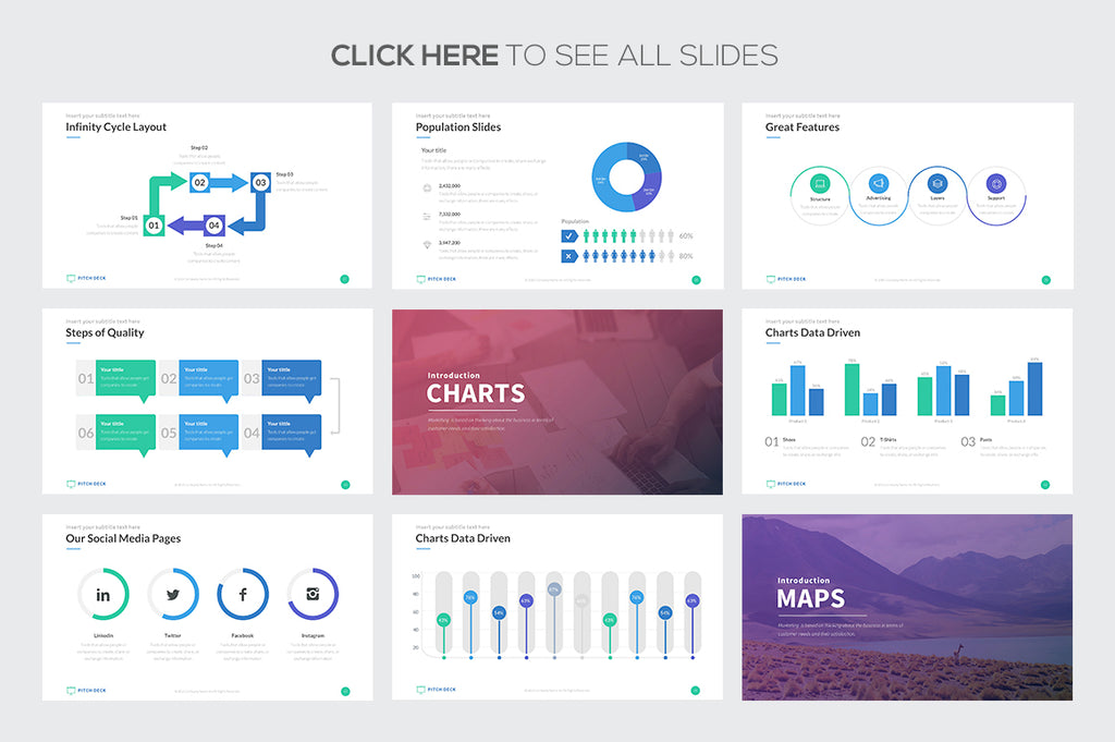 Pitch Deck Pro Powerpoint Template