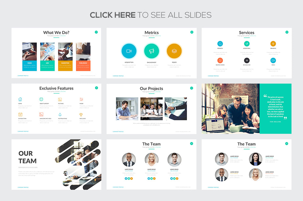 Company Profile Google Slides Template - Presentation Templates on Slideforest