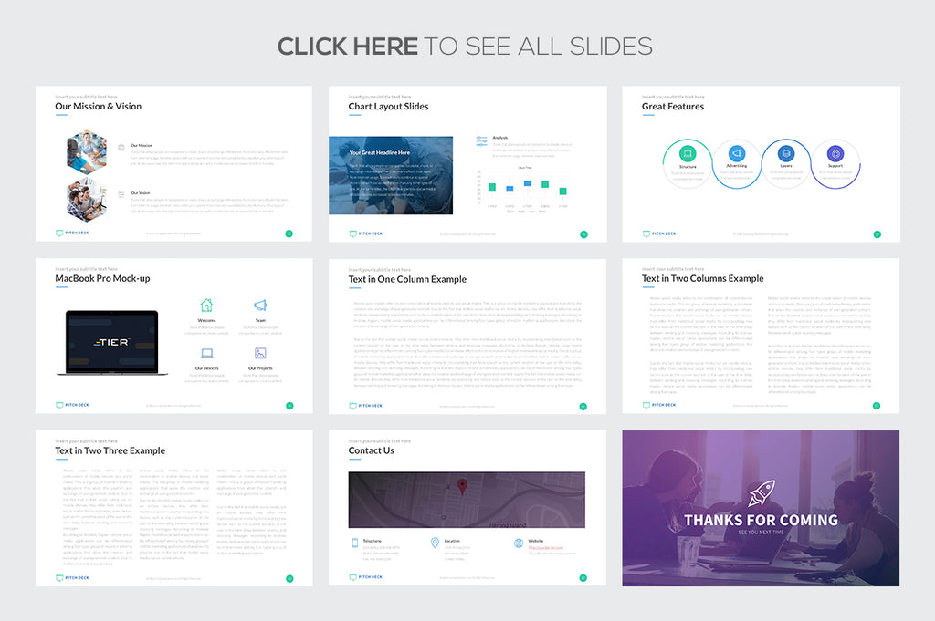 Pitch Deck Pro Powerpoint Template - Presentation Templates on Slideforest