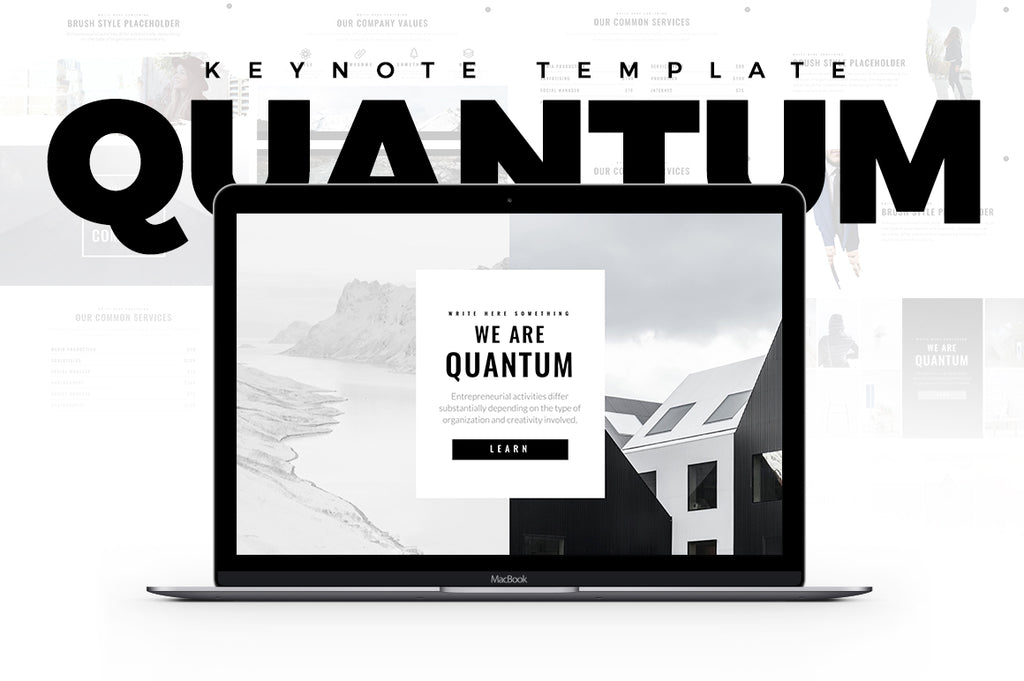 Quantum Minimal Keynote Template - Presentation Templates on Slideforest