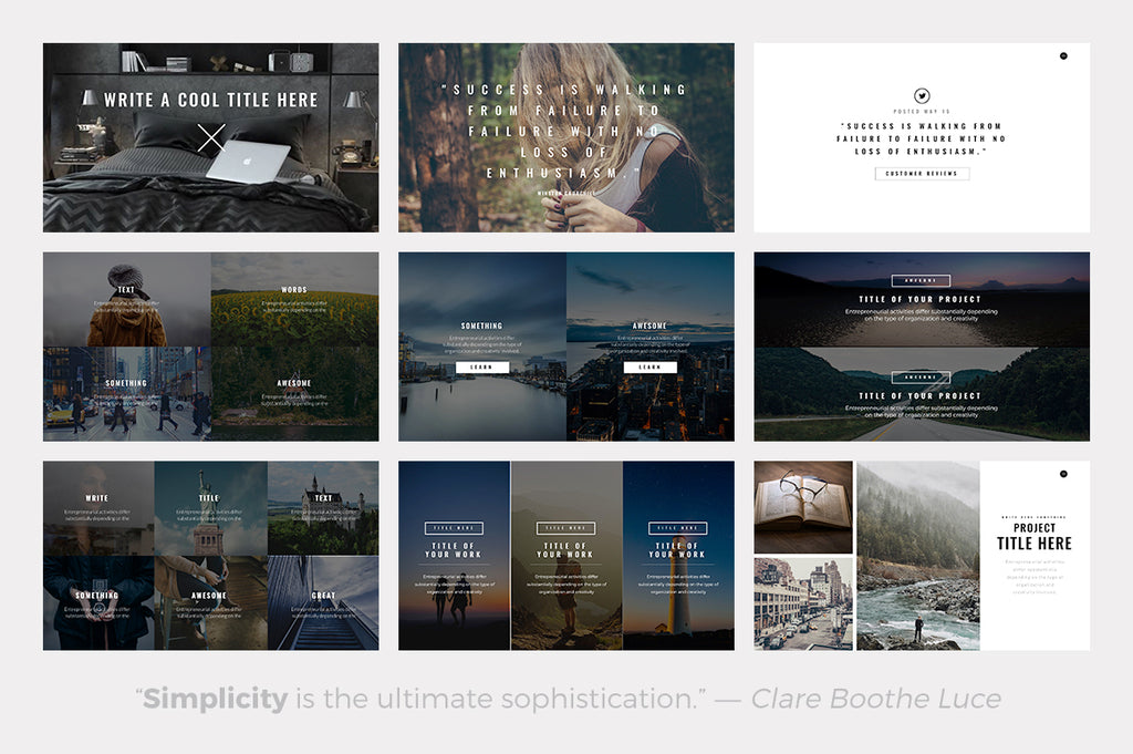 Quantum Minimal Powerpoint Template - Presentation Templates on Slideforest