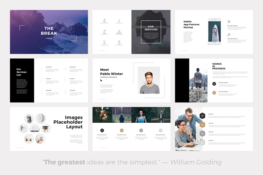 Quintus Minimal Powerpoint Template - Presentation Templates on Slideforest