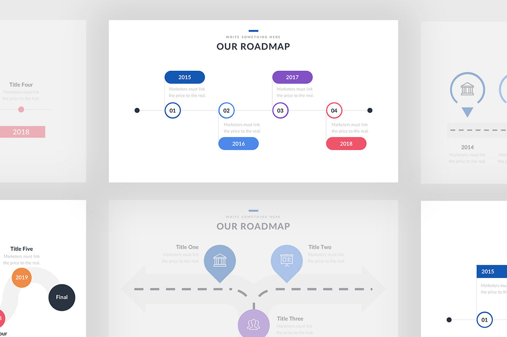 Roadmap Product Management - Presentation Templates on Slideforest