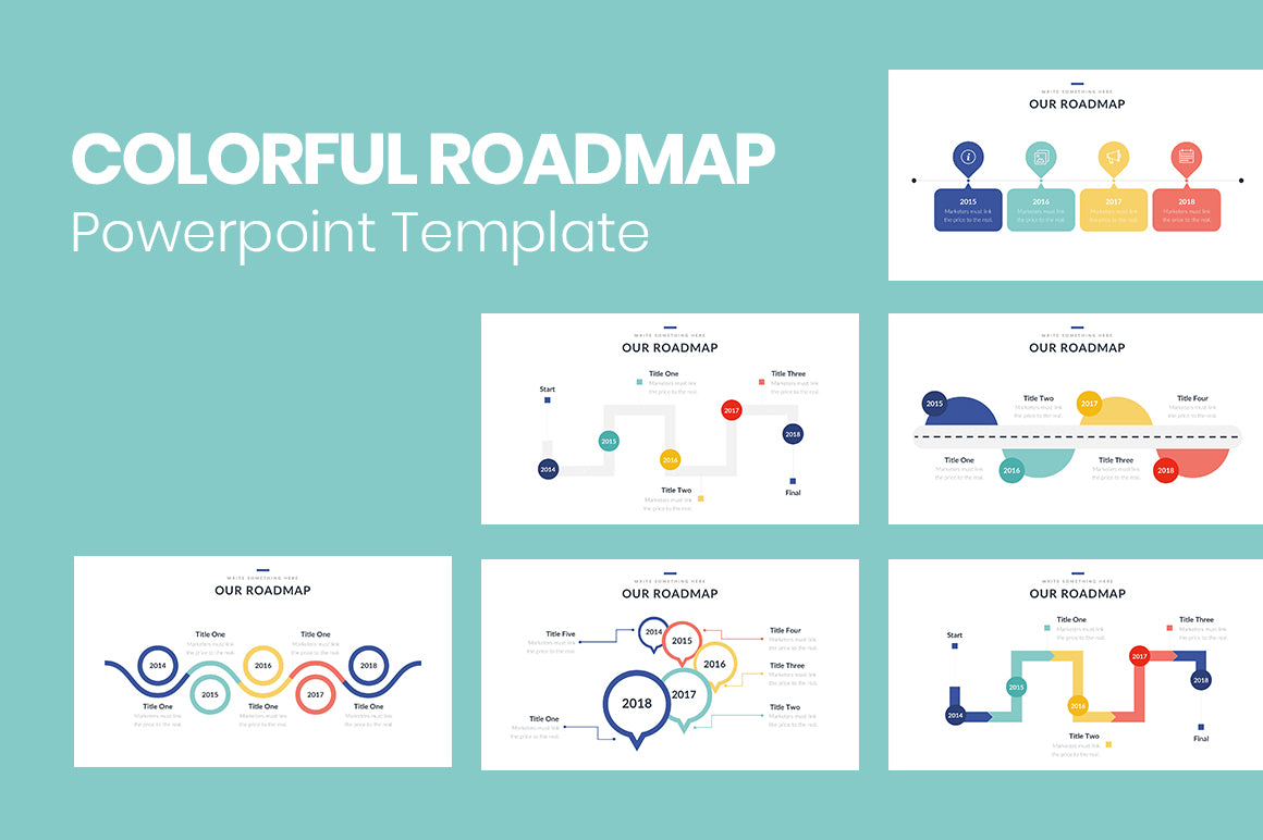 Colorful Roadmap Powerpoint Template