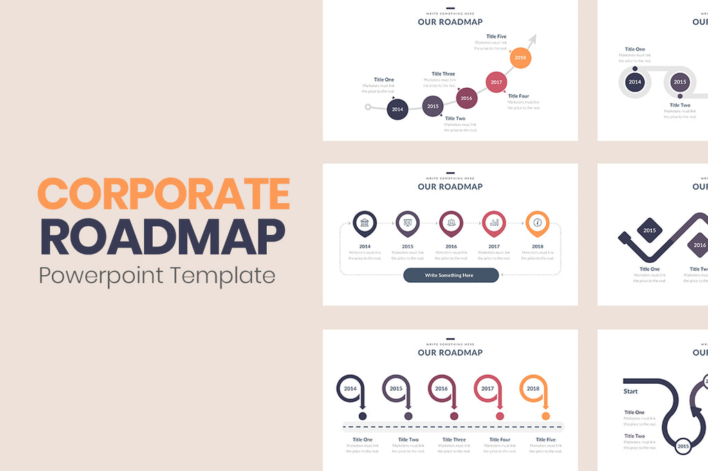 Corporate Roadmap Powerpoint Slides - Presentation Templates on Slideforest