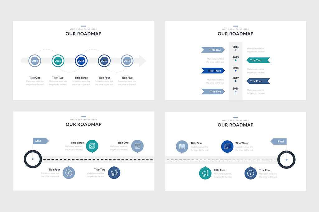 eight roadmap powerpoint slide templates slideforest