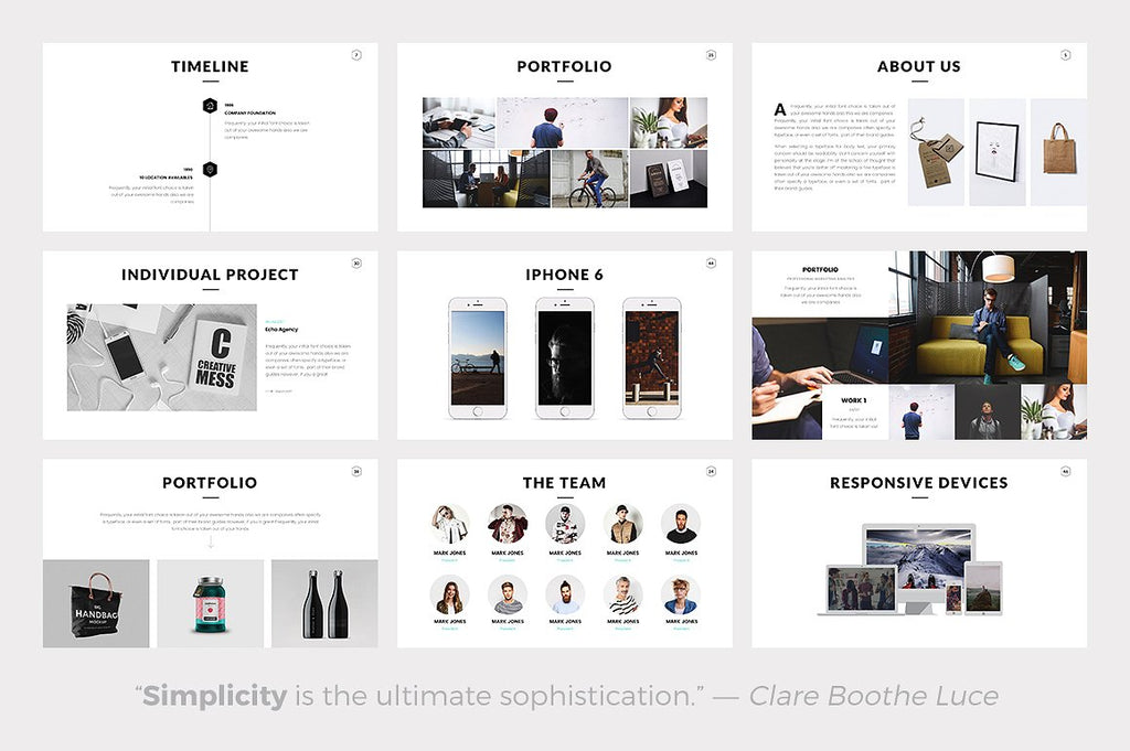 Rivka Minimal Powerpoint Template - Presentation Templates on Slideforest
