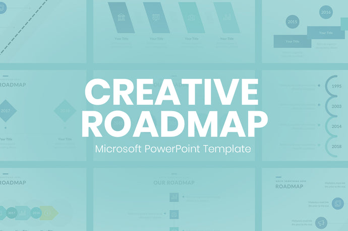 Creative Roadmap Concept PowerPoint Template - Presentation Templates on Slideforest