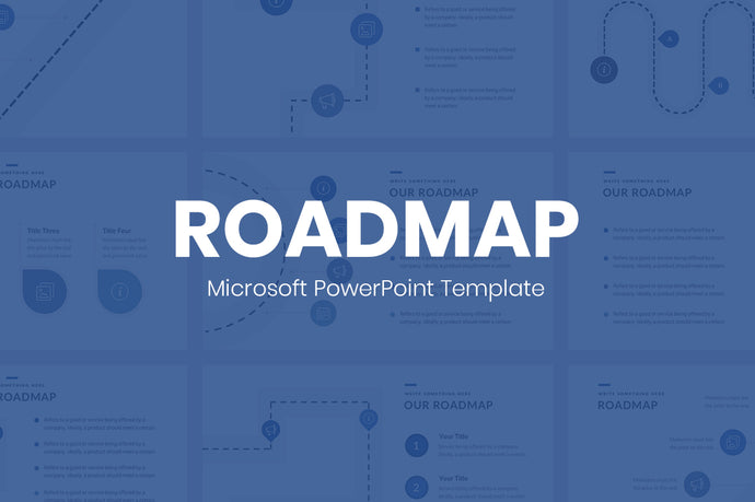 Microsoft PowerPoint Template Roadmap