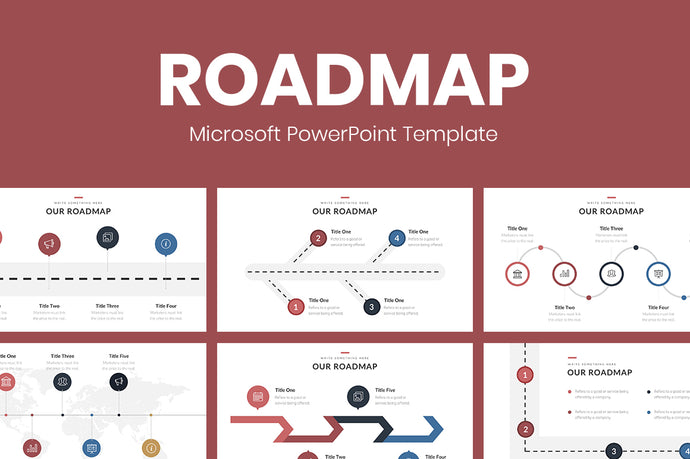 Roadmap PowerPoint template - Presentation Templates on Slideforest