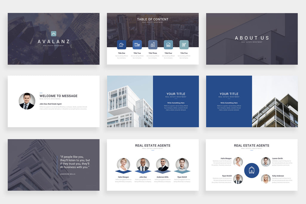 Avalanz Google Slides Template