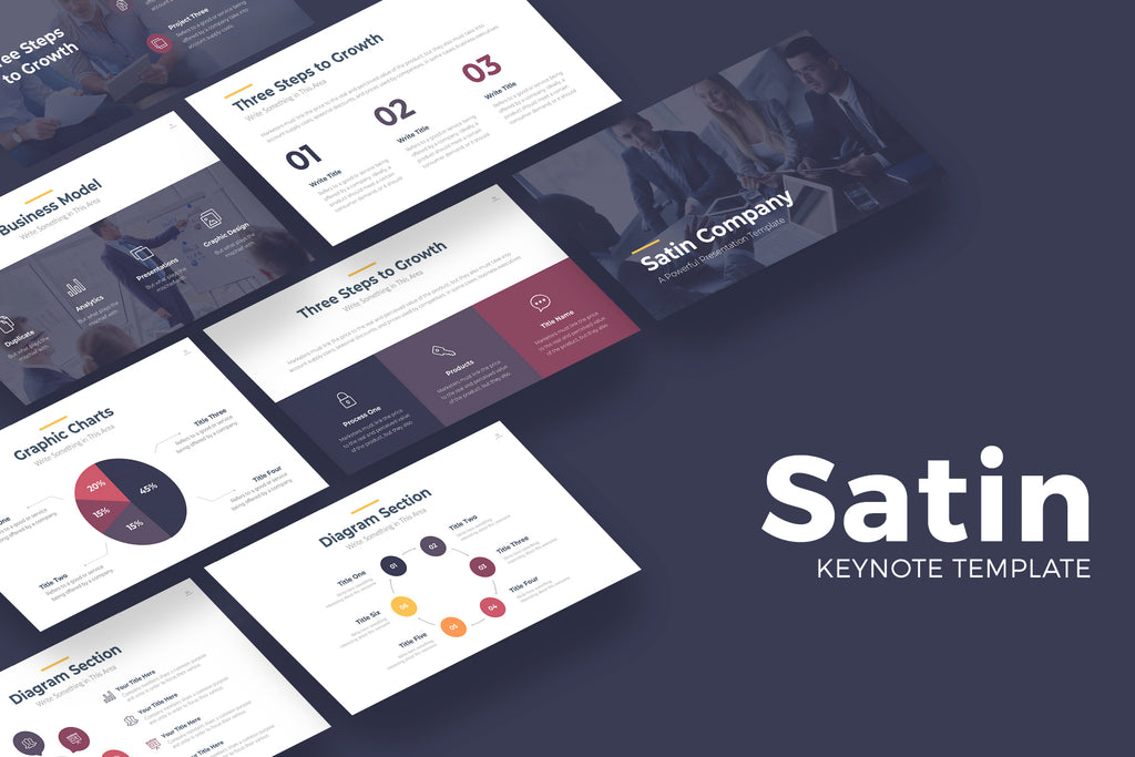 Satin Keynote Template