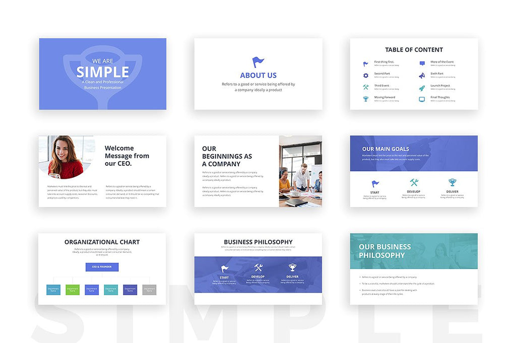 Simple Google Slides Template - Presentation Templates on Slideforest