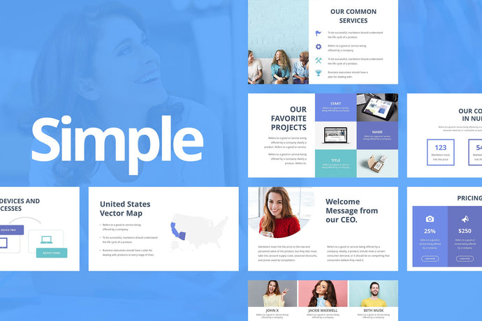 Simple Keynote Template - Presentation Templates on Slideforest
