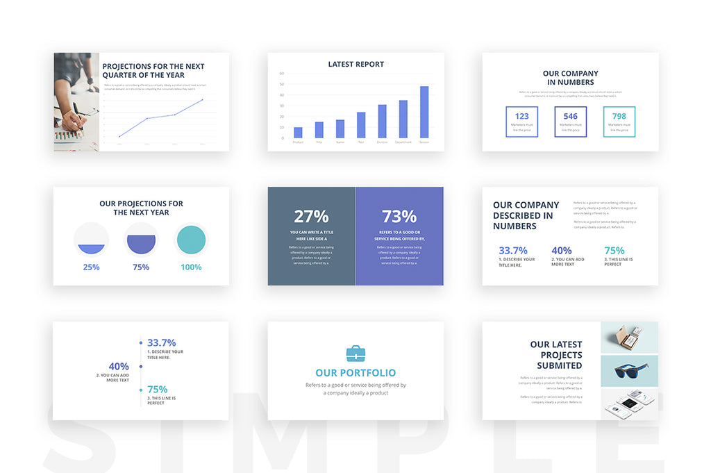simple powerpoint template slideforest