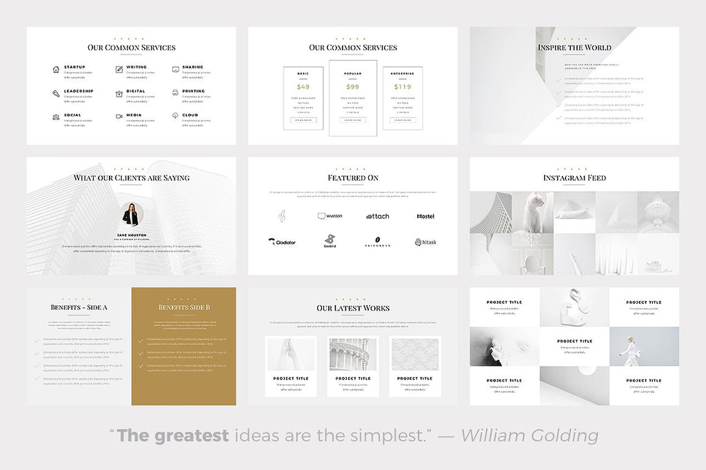 Spark Minimal Google Slides Template - Presentation Templates on Slideforest