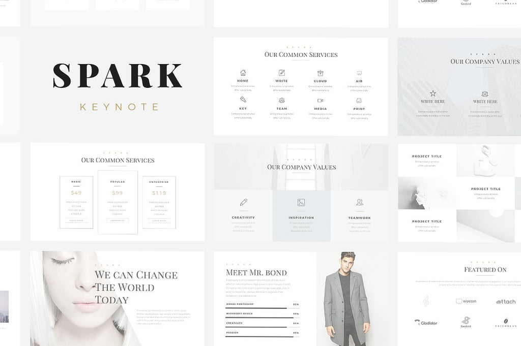 Spark Minimal Keynote Template - Presentation Templates on Slideforest