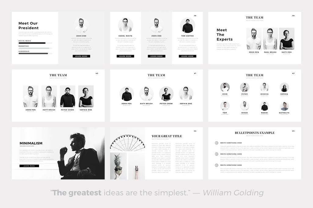Sphere Minimal Powerpoint Template - Presentation Templates on Slideforest