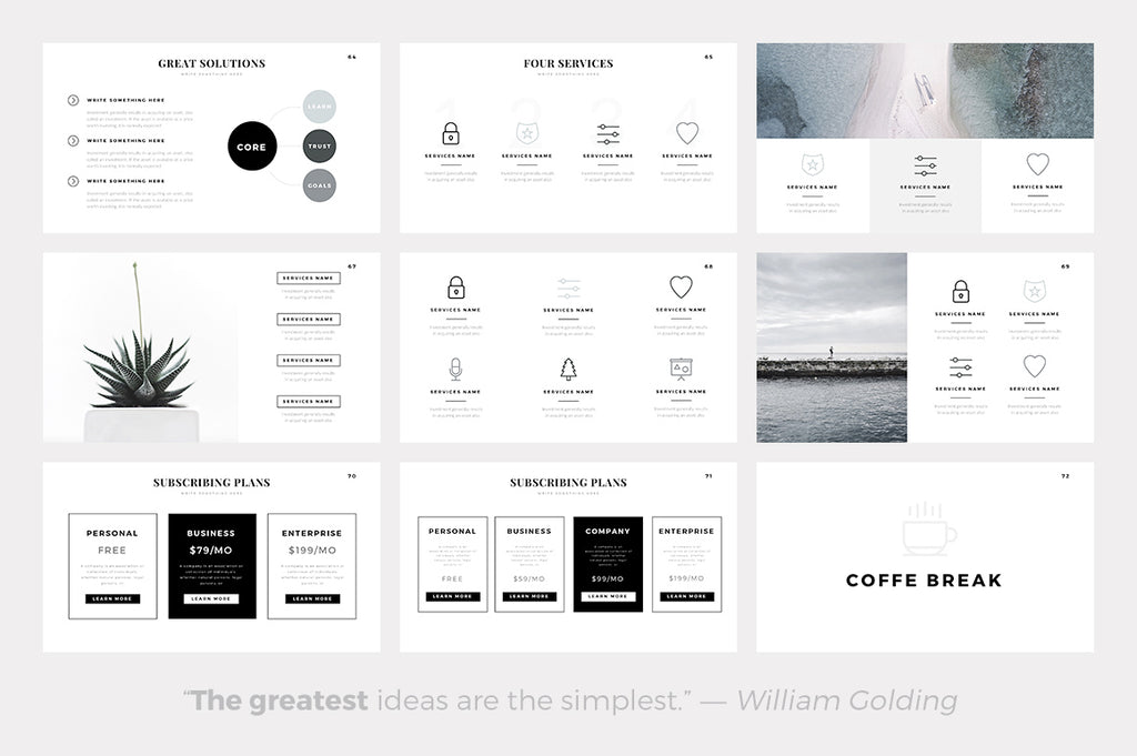 Sphere Minimal Keynote Template - Presentation Templates on Slideforest