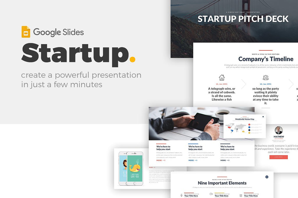 startup business google slides template presentations on slideforest