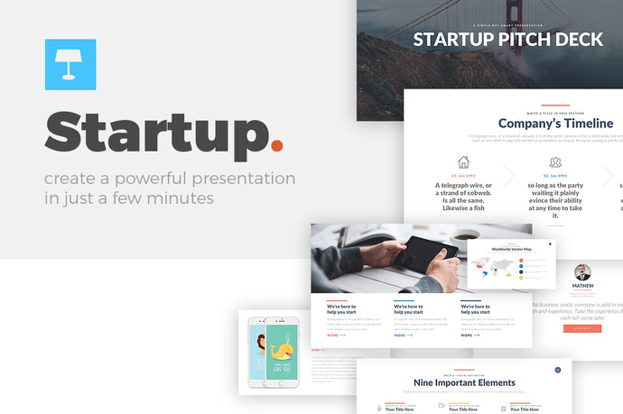 Startup Pitch Deck Keynote Template - Presentation Templates on Slideforest