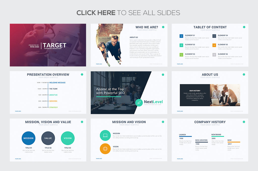 Target Google Slides Template - Presentation Templates on Slideforest
