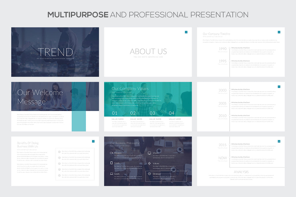 Trend Keynote Template - Presentation Templates on Slideforest