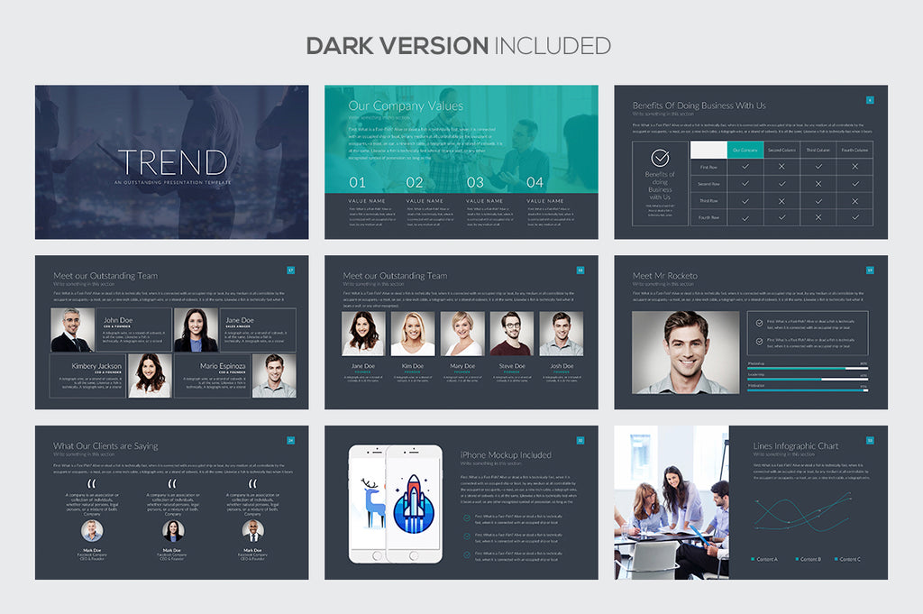 Trend PowerPoint Template - Presentation Templates on Slideforest
