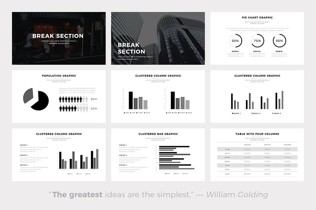 Volt Minimal Keynote Template - Presentation Templates on Slideforest