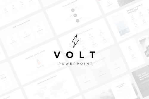 Volt Minimal PowerPoint Template - Presentation Templates on Slideforest