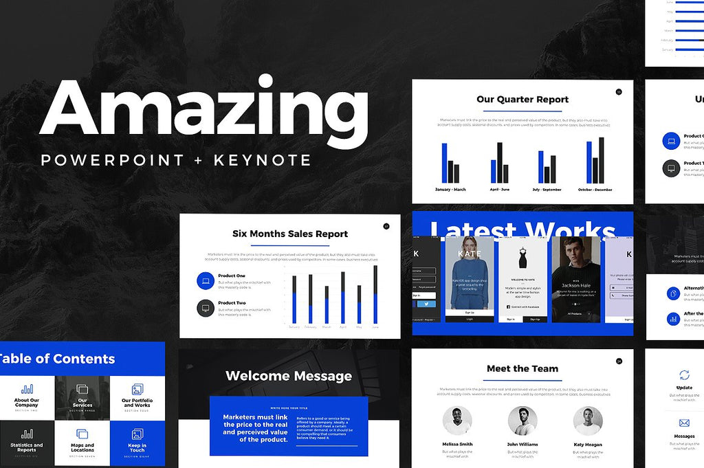 Slideforest Powerpoint + Keynote Templates Bundle - Presentation Templates on Slideforest