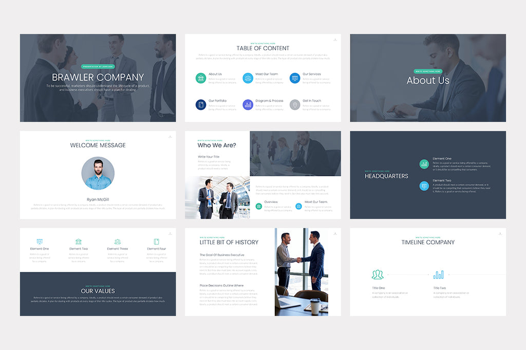 Brawler PowerPoint Template - Presentation Templates on Slideforest