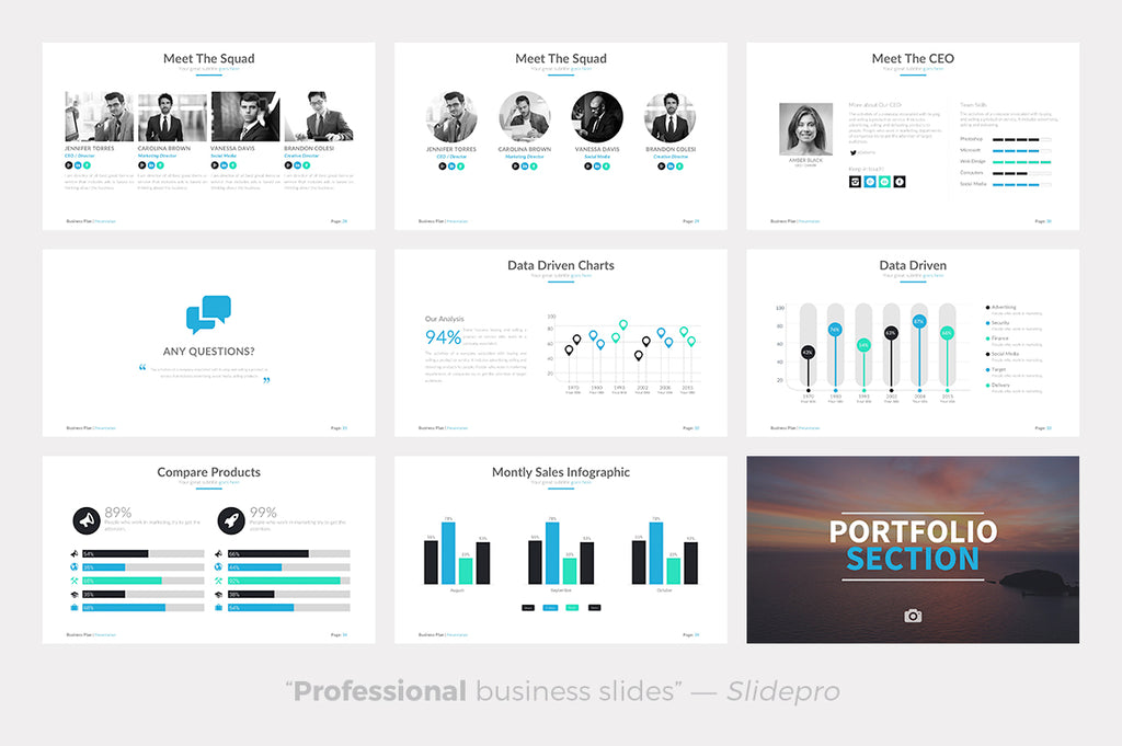 business plan powerpoint template presentations on slideforest