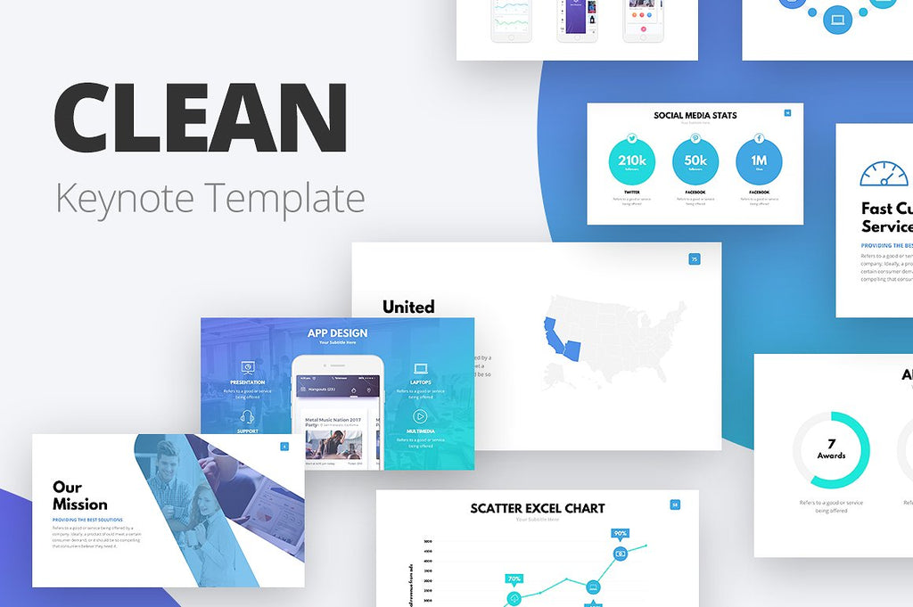 Clean Keynote Template - Presentation Templates on Slideforest