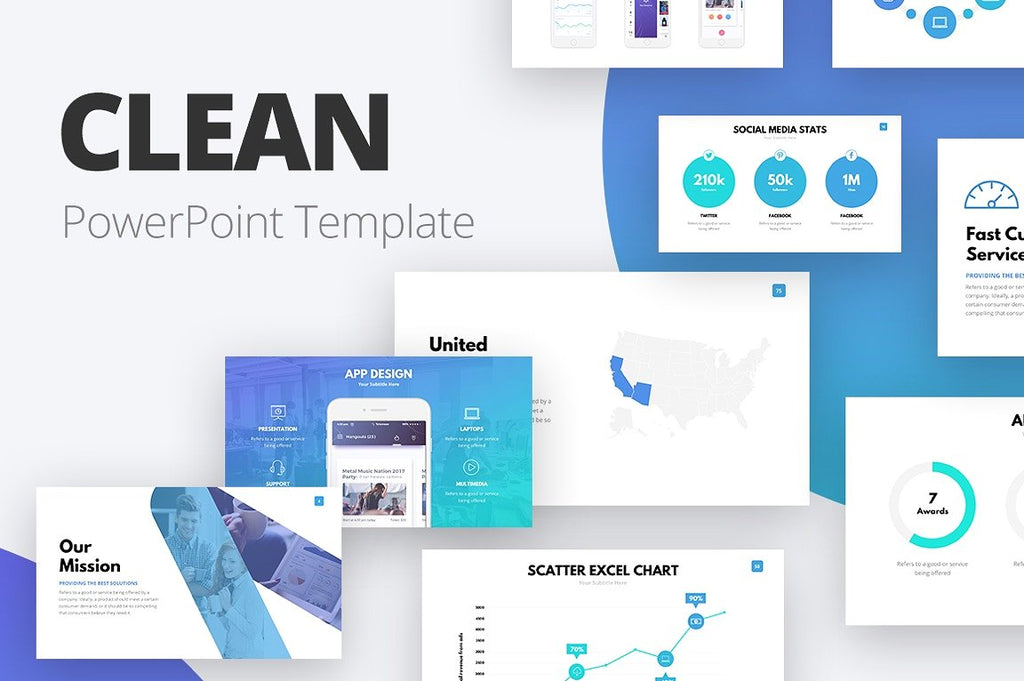 Clean Powerpoint Template Pablo Penantly Co