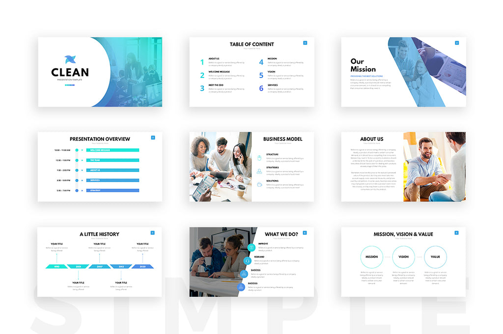 minimalist powerpoint template free 2 - clean powerpoint template presentation templates on