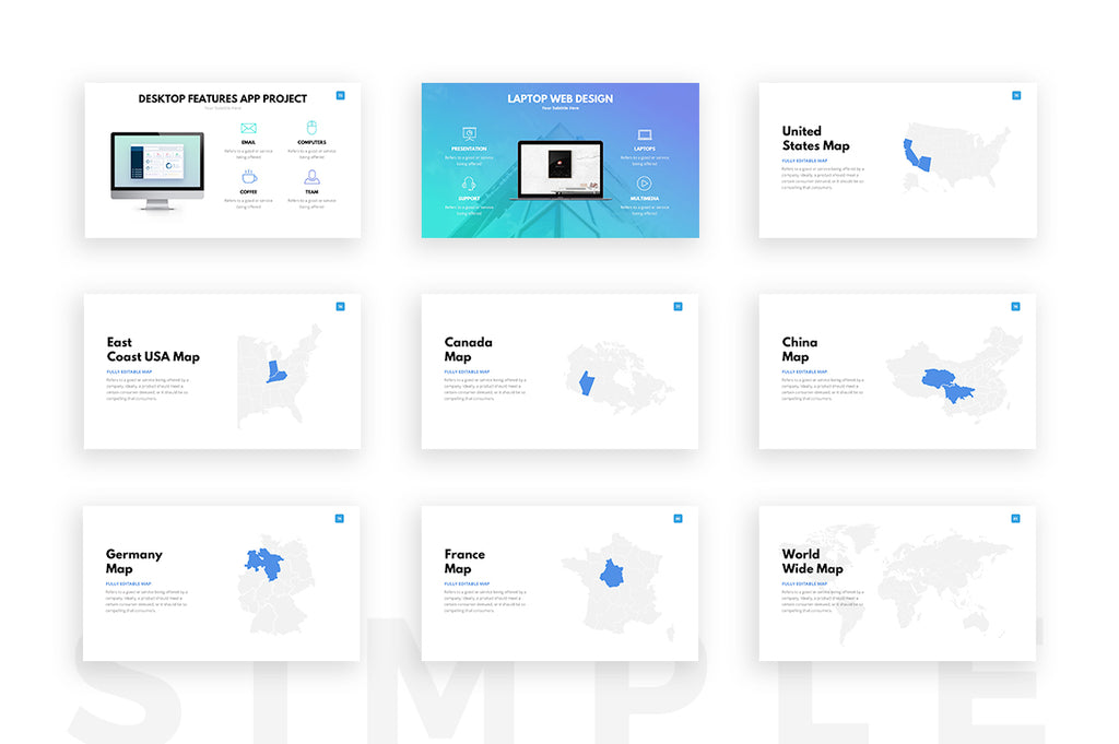 Clean PowerPoint Template - Presentation Templates on Slideforest