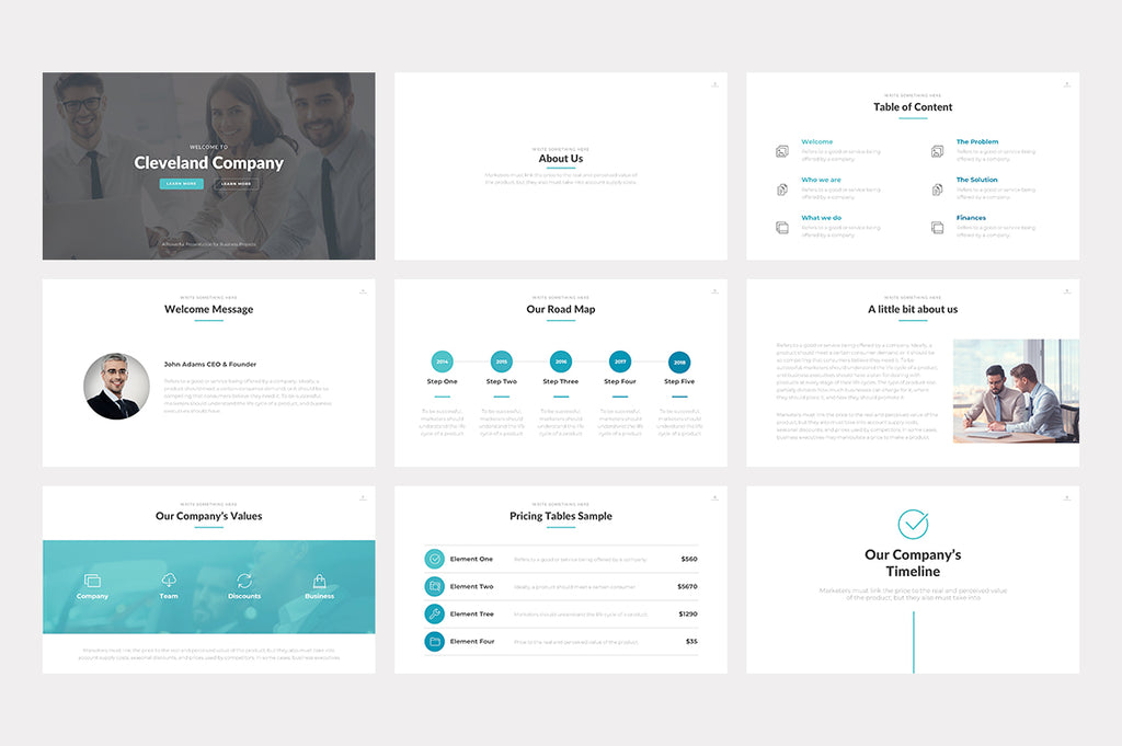Cleveland PowerPoint Template - Presentation Templates on Slideforest