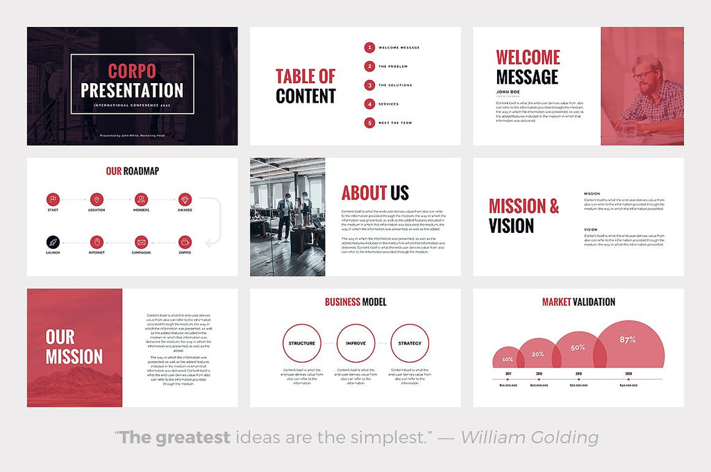 CORPO Business Powerpoint Template - Presentation Templates on Slideforest