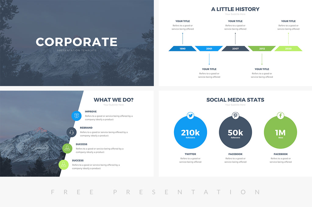 Corporate Free Presentation Template - Presentation Templates on Slideforest