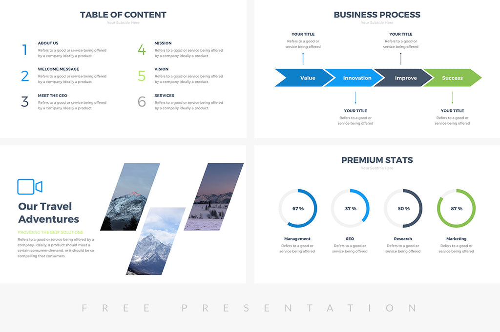corporate free presentation template presentations on slideforest