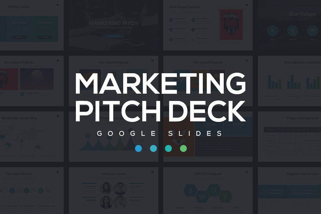 marketing pitch deck google slides theme
