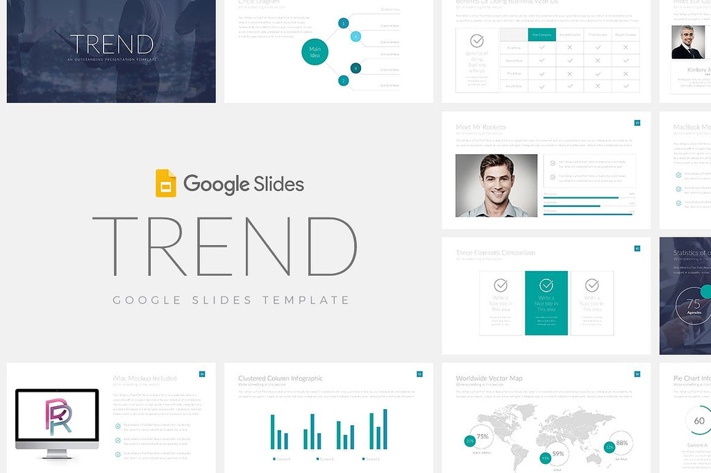 10 Google Slides Themes Bundle