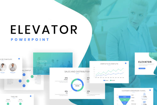Elevator Startup PowerPoint Template - Presentation Templates on Slideforest