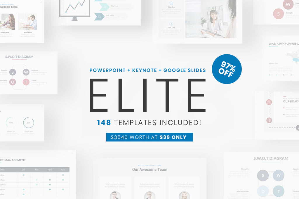 Elite PowerPoint + Keynote + Google Slides Bundle - Presentation Templates on Slideforest