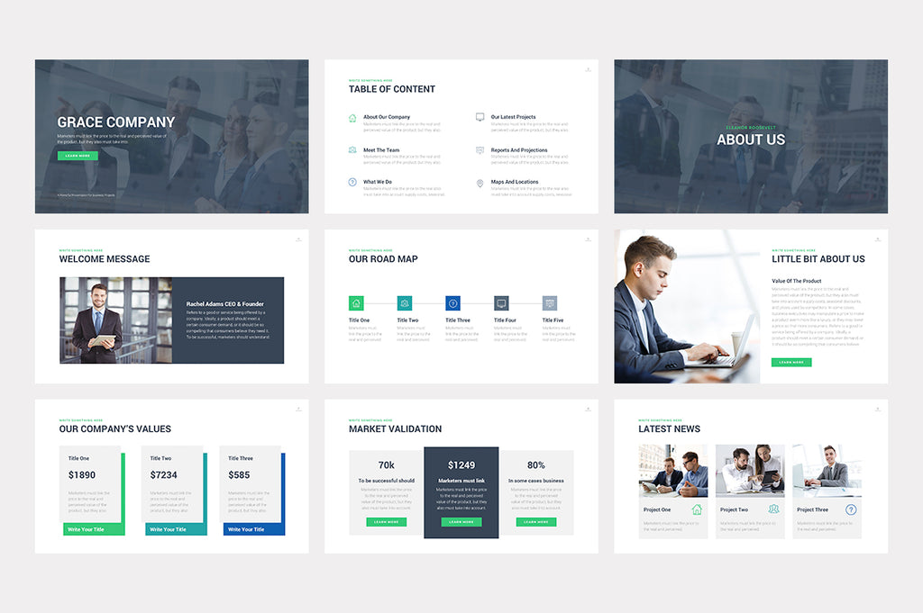 Grace Keynote Template - Presentation Templates on Slideforest